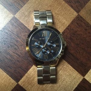 Michael Kors Gold Chronograph Watch - Used